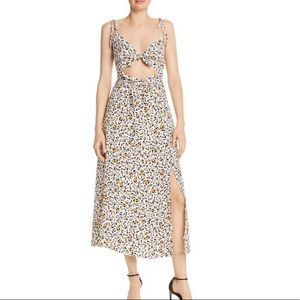 Wayf phoebe cut out cheetah dress 🐆